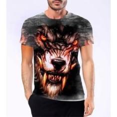 Imagem de Camiseta Camisa Lobisomem Licantropo Homem Lobo Mitologia