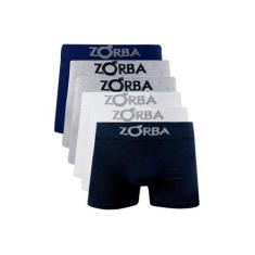 Imagem de Kit Com 6 Cuecas Boxer Algodão Sem Costura Zorba 781