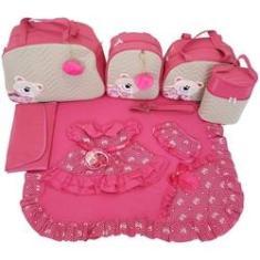 Imagem de Kit Bolsas Maternidade 5Pcs Com Saída  Pink Vestido