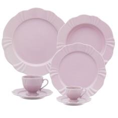 Aparelho De Jantar Redondo De Porcelana 42 Peças Soleil Sweet