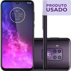 Smartphone Motorola One Zoom Usado 128GB Android Câmera Quádrupla