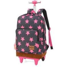 Imagem de mochila de rodinha feminina juvenil estrela up4you 51275