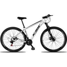 Bicicleta Mountain Bike KSW 21 Marchas Aro 29 Suspensão Dianteira Freio a Disco Mecânico XLT