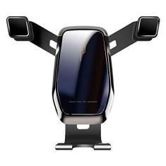 Imagem de Sunbaca Suporte de telefone horizontal vertical para suporte de carro Suporte de ventilação de ar para carro Acessórios para carro Telefone inteligente universal Suporte de telefone silencioso