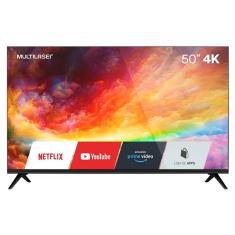"""Imagem de Smart TV LED 50"""" Multilaser 4K TL032 3 HDMI LAN (Rede)"""
