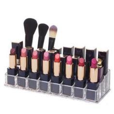 Imagem de Porta Batom Organizador Em Acrílico Para 24 Batons Maquiagem