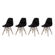 Imagem de Kit 4 Cadeiras Eiffel Eames DSW  Base Madeira