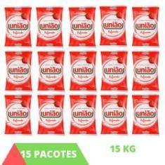 Imagem de 15 Pacotes Açúcar Refinado 1kg União Cristal  Clássico