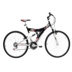 Bicicleta Mountain Bike Track & Bikes 18 Marchas Aro 26 Suspensão Full Suspension Freio V-Brake TB100XS