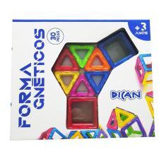 Imagem de Blocos De Montar Em Formas Magnéticas Com 30 Peças Dican