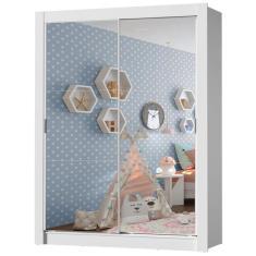 Guarda-Roupa Infantil 2 Portas com Espelho Enzo 2E Madesa