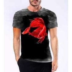 Imagem de Camiseta Camisa Personalizada Peixe Beta Betta Briga Siamês3