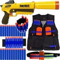 Imagem de Kit Arma Nerf Fortnite Sneaky + Colete + Acessórios + 60 Dardos