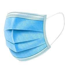 Imagem de Máscara Descartável Tripla Com Elástico e Clip Nasal Azul - 50 Unidades