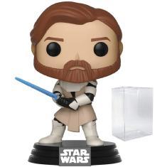 Imagem de Star Wars: Clone Wars - Obi Wan Kenobi Funko Pop! Figura de vinil (inclui caixa protetora de caixa pop compatível)