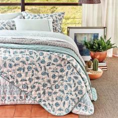 Imagem de jogo de cama casal artex total mix clean 180 fios 100% algodão green