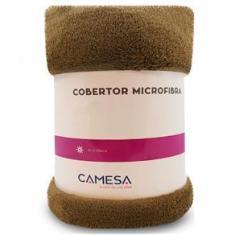 Imagem de Manta Cobertor Queen 220x240cm Microfibra Soft Macia Fleece Camesa - Emcompre