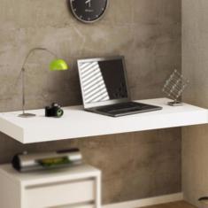 Imagem de Bancada Escrivaninha Suspensa Mesa Mdf Notebook
