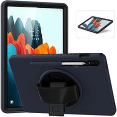 Imagem de Capa para Samsung Galaxy Tab S7 de 11 polegadas 2020 com suporte para lápis, capa protetora resistente à prova de choque com suporte giratório para Galaxy Tab S7 de 11 polegadas [SM-T870/T875/T878]
