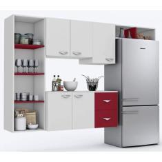 Cozinha Compacta 2 Gavetas 5 Portas Anabela Espresso Moveis