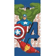Imagem de Toalha Banho Infantil Felpuda Avengers Vingadores Lepper #5