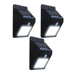 Imagem de Kit 3 Refletor Luminária Placa Solar 30 Led Parede Jardim Piscina Sensor Movimento Presença Externo Resistente