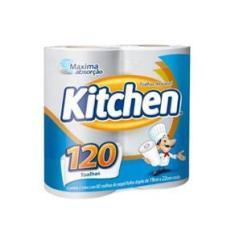 Imagem de Papel Toalha Kitchen Com 2 Rolos De 60 Folhas Cada Softys