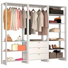 Imagem de Guarda-Roupa Closet 3 Gavetas 10123 Nova Móbile