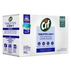 Detergente Tablete Cif para Máquina de Lavar Louças 4 em 1