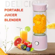 Imagem de Liquidificador espremedor portátil, USB Travel Juice Cup Comida para bebê que mistura Machince com poderoso motor 2500mAh bateria recarregável, 500 ml de garrafa Multi-funcional Ex