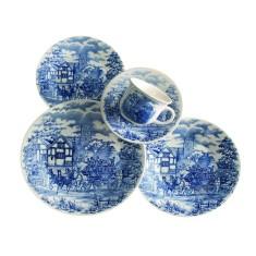 Aparelho de Jantar Redondo de Cerâmica 30 peças - Cena Inglesa Biona
