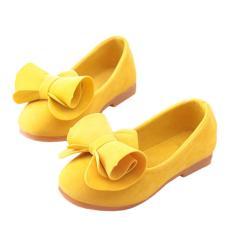 Imagem de Sapatos infantis para meninas da moda Bowknot Peas Shoes Pele macia Couro Sapatos Princesas