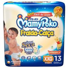 Fralda de Vestir MamyPoko Fralda-Calça Tamanho XXG Regular 13 Unidades Peso Indicado 15 - 25kg