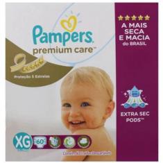 Imagem de Fralda Pampers Premium Care Tamanho XG Jumbo 60 Unidades Peso Indicado 12 - 15kg