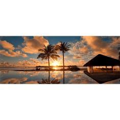 Imagem de Quadro por do sol Decorativo Sky Reflection II InCasa Design