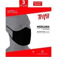 Imagem de Máscara Tecido Lavável Dupla  (c/03 Unds) Trifil / Lupo