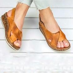 Imagem de Moda Coreana Peixe Toe Design Feminino Sandálias Confortáveis Antiderrapantes Simples