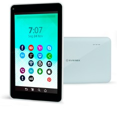 "Tablet Everex 8GB LCD 7"" Android 4.4 (Kit Kat) Fine7"