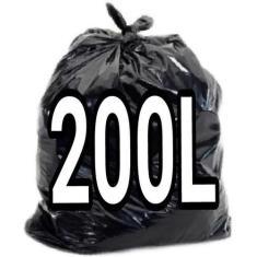 Imagem de Saco De Lixo 200 Litros  100 Unid Resistente Aac147 Cor: