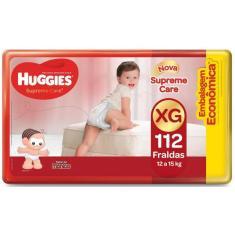 Fralda Huggies Turma da Mônica Supreme Care Tamanho XG Econômica 112 Unidades Peso Indicado 12 - 15kg