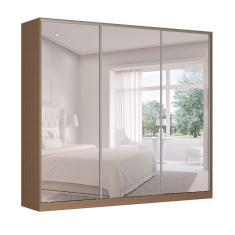 Guarda-Roupa Casal 3 Portas Gavetas com Espelho Tunas IV 3E Nova Móbile
