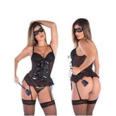 Imagem de Lingerie Sexy Tiazinha Sensual Mulher Gata Fantasia Completa