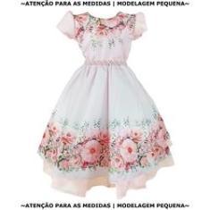 Imagem de Vestido Infantil  Floral Moda Evangélica Luxo