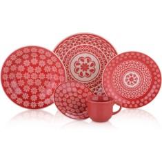 Aparelho de Jantar Redondo de Cerâmica 20 peças - Renda Biona