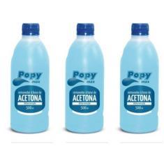 Imagem de Farmax Popymax Removedor A Base De Acetona 500ml (kit C/03)