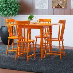 Imagem de Conjunto de Mesa Dobrável com 4 Cadeiras Andreia Mel