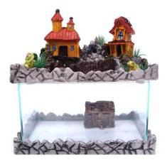 Imagem de Aquário com fonte cascata casinha 110 V.