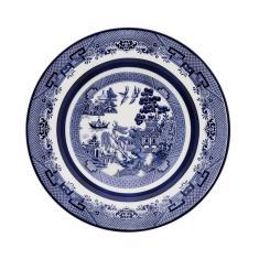 Imagem de Jogo 10 Pratos Sopa Flamingo Blue Willow Oxford Porcelanas