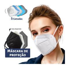 Imagem de Kit 30 Máscaras Kn95 Proteção 5 Camada Respiratória Pff2 N95
