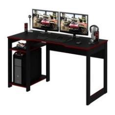 Imagem de Mesa Gamer Reversível Me4152 Preto Vermelho Tecno Mobili